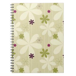 Fondo floral retro cuadernos