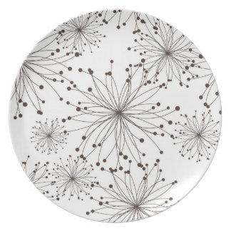 Fondo floral retro platos