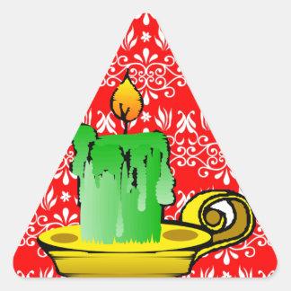 Fondo floral rojo festivo calcomanías triangulos personalizadas