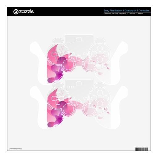 Fondo floral rosado abstracto calcomanía para mando PS3