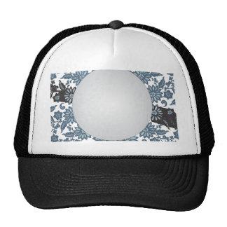 Fondo florecido azul gorras
