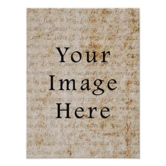 Fondo francés del papel de pergamino de la escritu fotografía