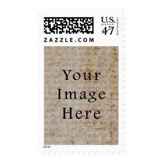 Fondo francés del papel de pergamino de la timbres postales