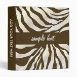 Fondo/frente del estampado de zebra binders/DIY de