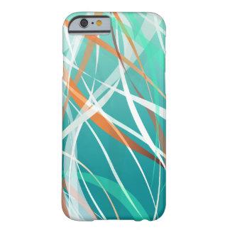 Fondo fresco abstracto de las ondas verdes funda para iPhone 6 barely there