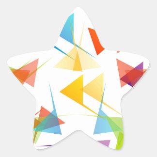 Fondo geométrico abstracto colorido pegatina en forma de estrella