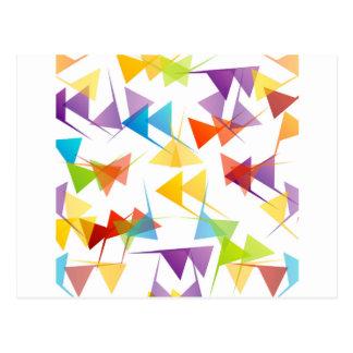 Fondo geométrico abstracto colorido tarjeta postal
