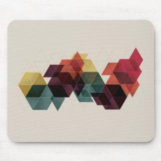 Fondo geométrico retro del cubo alfombrillas de ratón