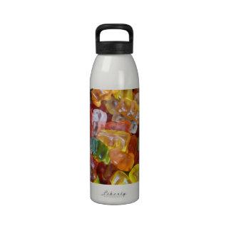 Fondo gomoso de los osos botella de beber