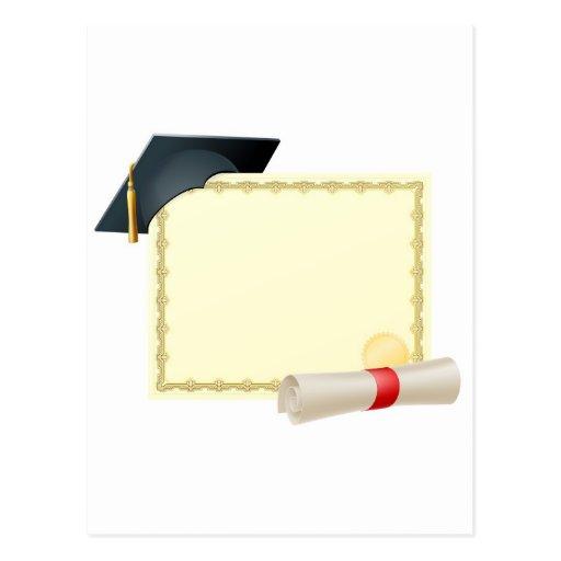 Fondo graduado del certificado postales