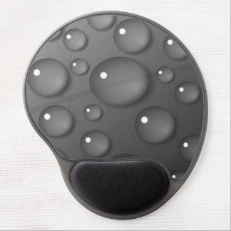 Fondo gris de la gota de agua alfombrillas con gel