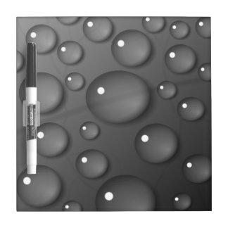 Fondo gris de la gota de agua tableros blancos