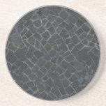 Fondo gris de la textura de la trayectoria de la r posavasos manualidades