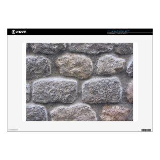 Fondo gris de pared de piedra skins para 38,1cm portátiles