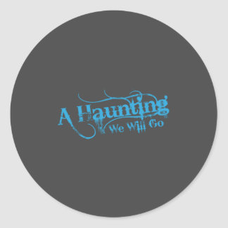 Fondo gris del logotipo azul de AHWWG (logotipo de Pegatina Redonda