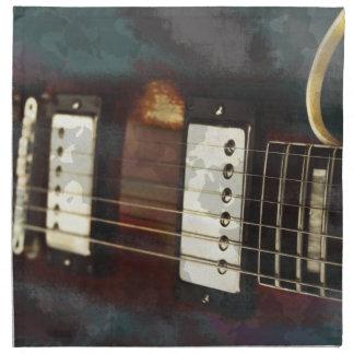fondo grunged música eléctrica de la guitarra servilletas
