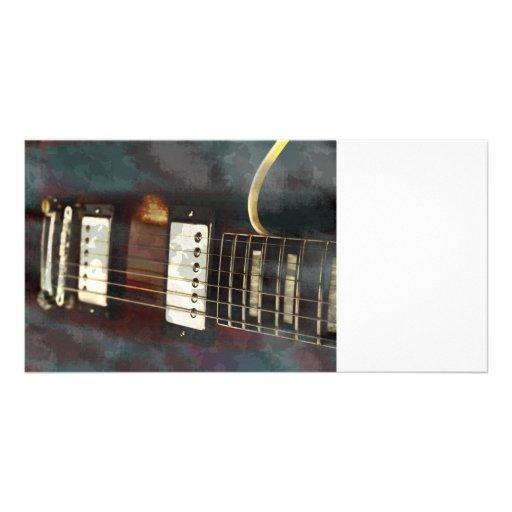 fondo grunged música eléctrica de la guitarra tarjeta fotografica personalizada