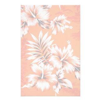 Fondo hawaiano de la flor del hibisco  papeleria de diseño