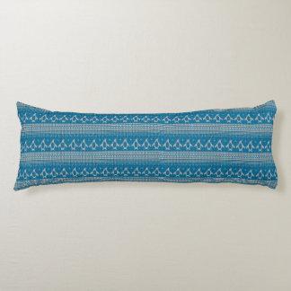 Fondo hecho punto azul cojin cama