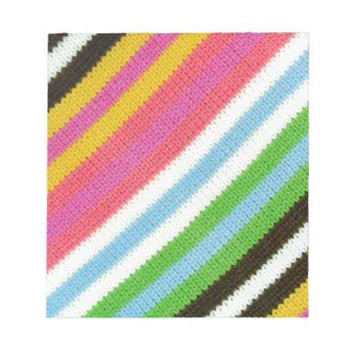 Fondo hecho punto colorido blocs de papel