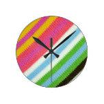 Fondo hecho punto colorido relojes
