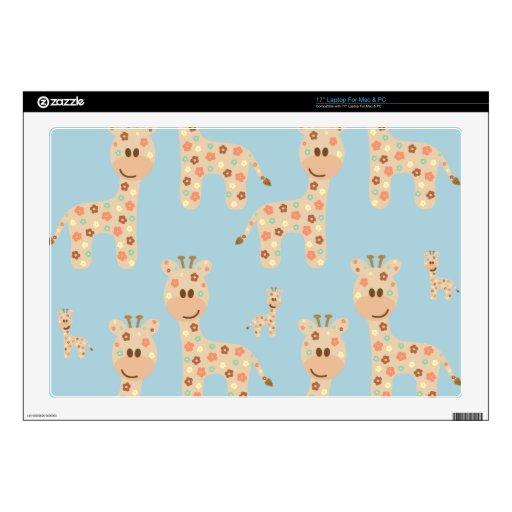 Fondo inconsútil con la jirafa 43,2cm portátil calcomanías