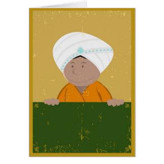 Fondo indio del dibujo animado del Grunge Tarjeta De Felicitación