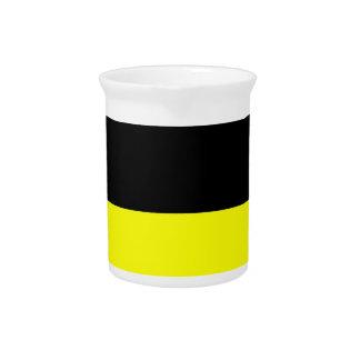 fondo inferior negro superior del personalizado de jarras