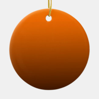 fondo inferior oscuro superior anaranjado del adorno redondo de cerámica
