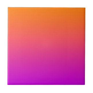 fondo inferior púrpura superior anaranjado de la p azulejo cuadrado pequeño