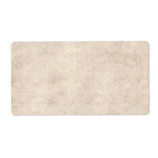 Fondo ligero del papel de la antigüedad del pergam etiqueta de envío