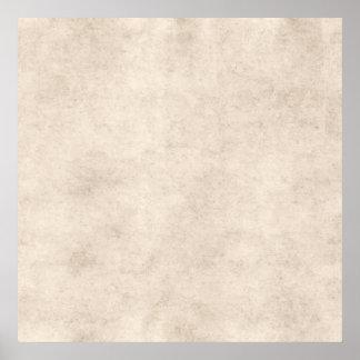 Fondo ligero del papel de la antigüedad del pergam posters