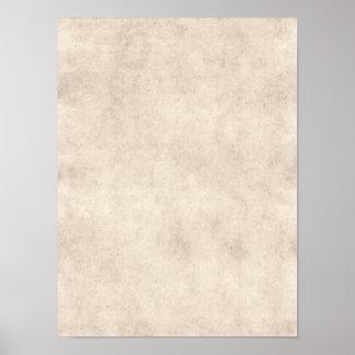 Fondo ligero del papel de la antigüedad del pergam impresiones