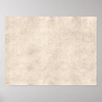 Fondo ligero del papel de la antigüedad del pergam póster