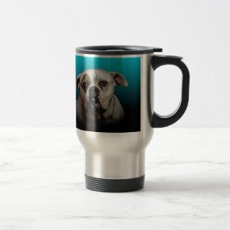 Fondo lindo de la pendiente del negro azul del taza térmica