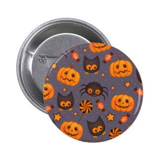 Fondo lindo de la púrpura del modelo de Halloween Pin
