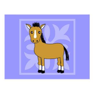 Fondo lindo del bonito del caballo del dibujo tarjeta postal