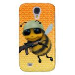 Fondo lindo del panal del soldado de la abeja 3d