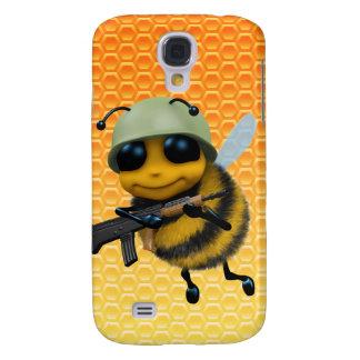 Fondo lindo del panal del soldado de la abeja 3d funda para galaxy s4