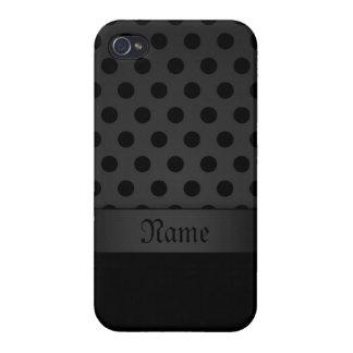 fondo listo del caso del iPhone 4 con Polkadots iPhone 4/4S Carcasa