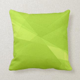Fondo llano de la verde lima cojin