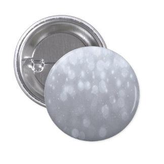 Fondo - luces de plata del brillo de Bokeh Pin Redondo De 1 Pulgada
