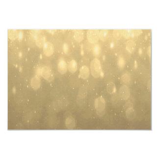 """Fondo - luces del brillo de Bokeh del oro Invitación 3.5"""" X 5"""""""