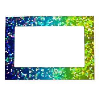 Fondo magnético del gráfico del brillo del marco foto de imanes