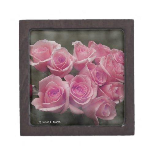 fondo manchado ramo subió colorized rosa caja de regalo de calidad
