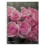 fondo manchado ramo subió colorized rosa cuaderno