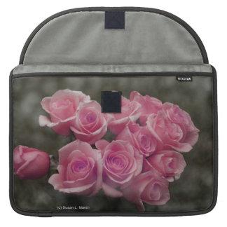 fondo manchado ramo subió colorized rosa funda para macbooks
