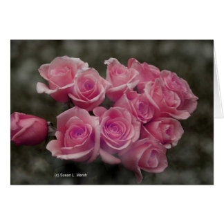 fondo manchado ramo subió colorized rosa felicitaciones
