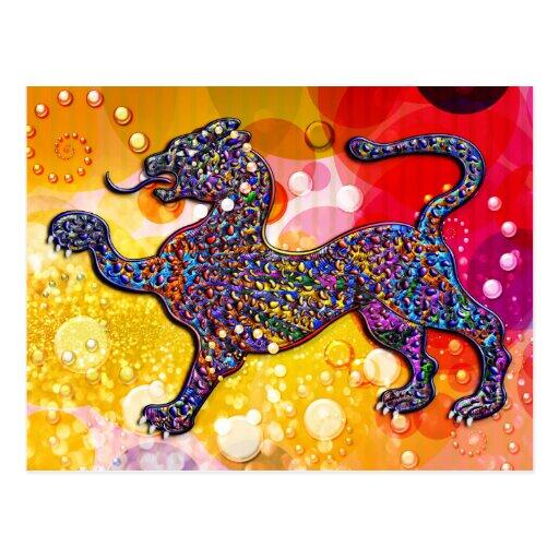 Fondo manchado real del extracto del leopardo postales