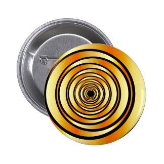 Fondo metálico de alta tecnología del anillo pin redondo de 2 pulgadas